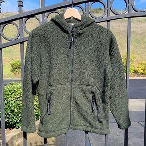 REI fleece hooded full-zip jacket, Size Jrs 12-14